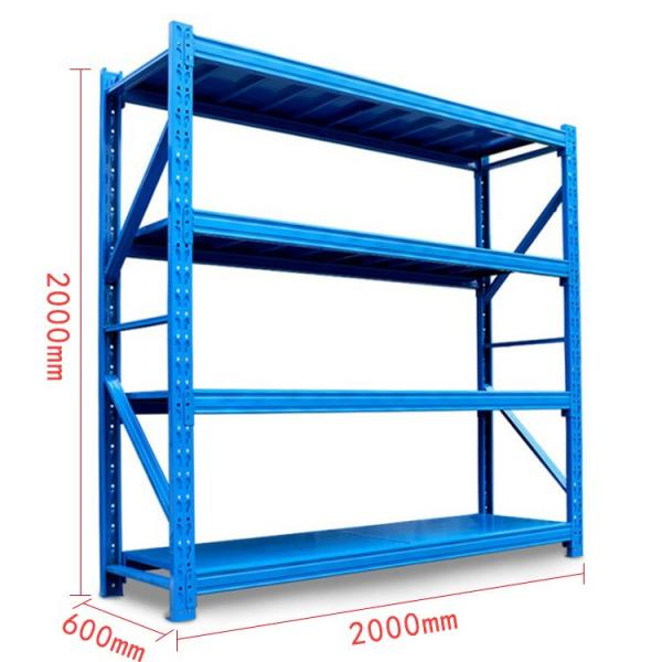 Metal Longspan Warehouse Storage Shelving Rack 200-800 Kg Udl/Level